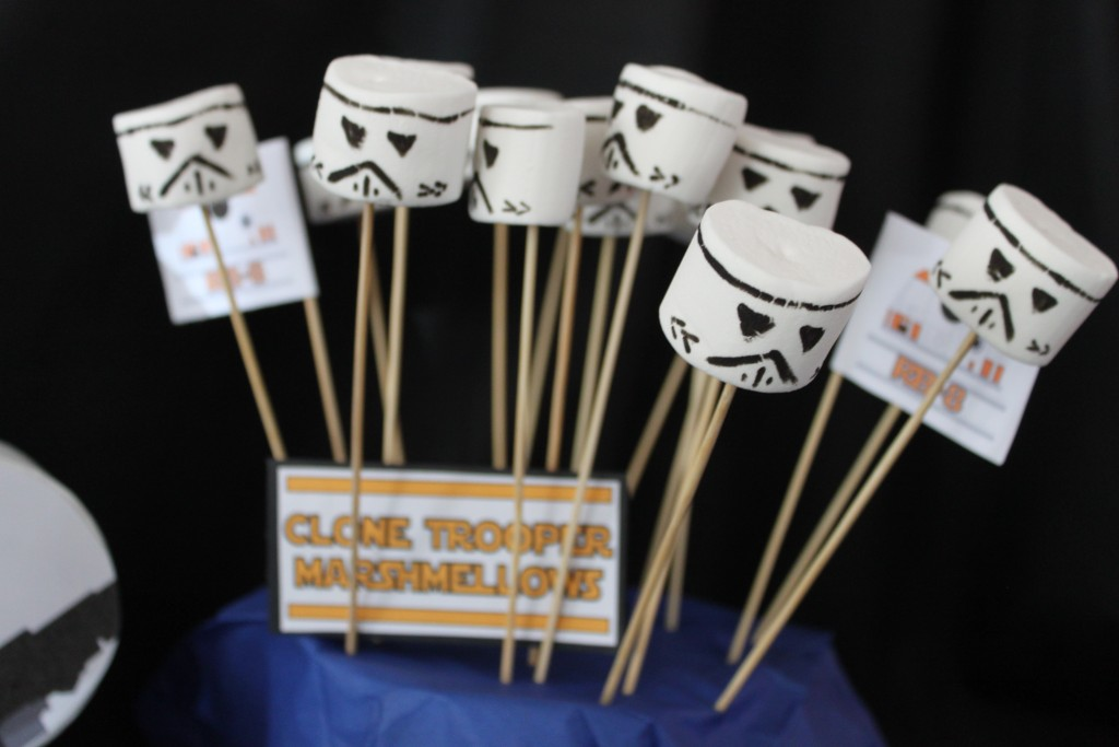Clone trooper marshmallows