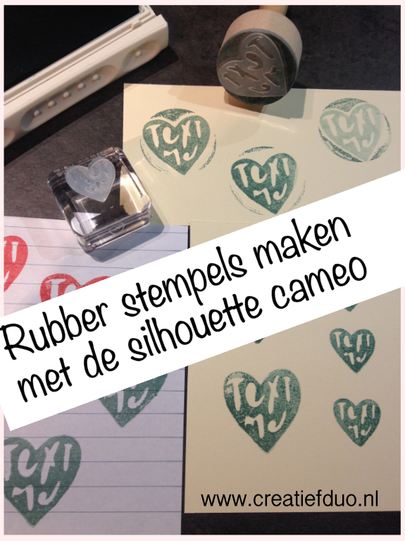 make your own rubber stamps silhouette cameo