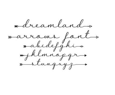 Beroemd Gratis lettertype met pijlen – CreatiefDuo #PL59
