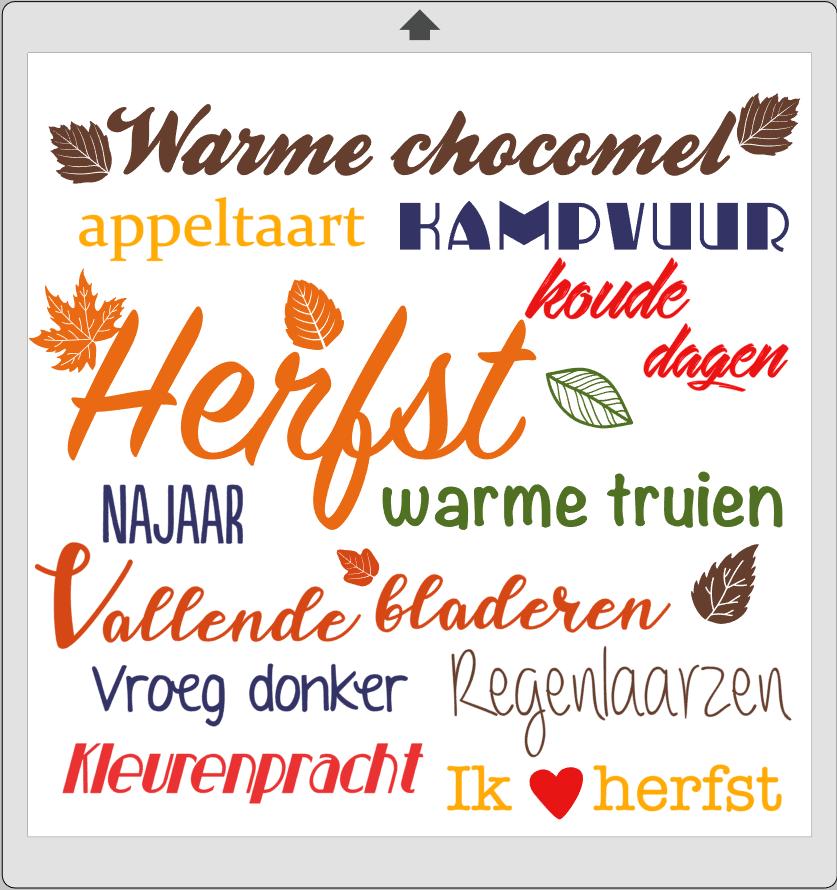 Gratis bestand van de week: herfst tekst bord | CreatiefDuo